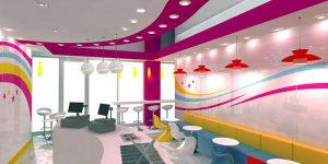 طراحی داخلی رنگی