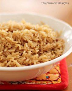 مصرف برنج قهوه ای